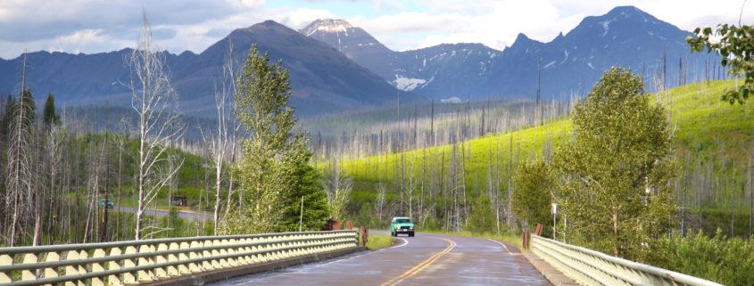 scenic drive Glacier National Park