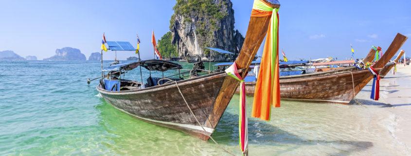 Boats on beach in Phuket, Thailand
