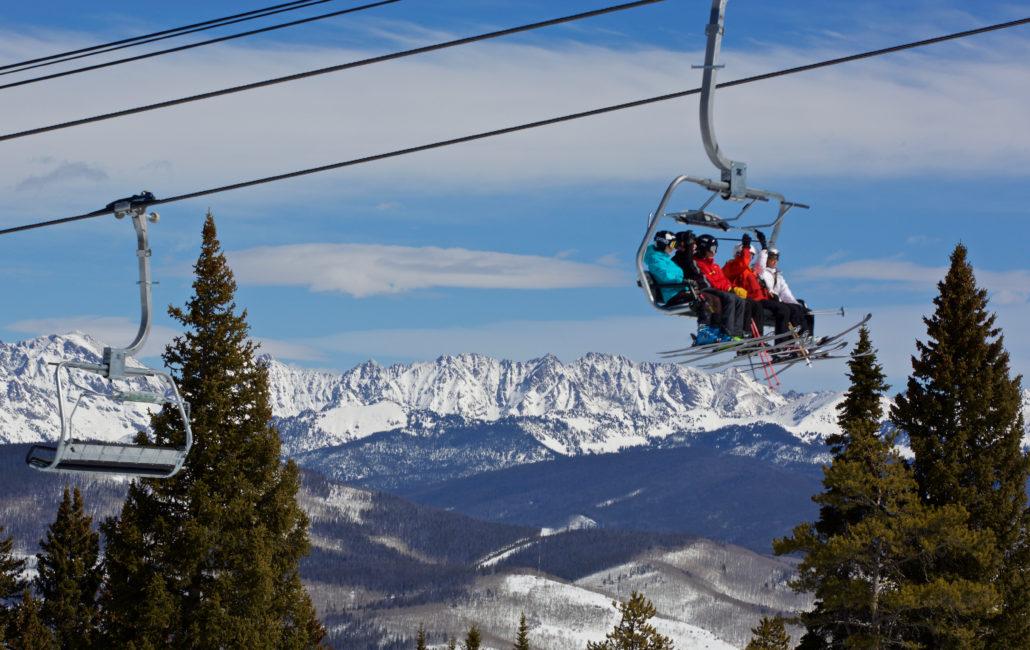 Beaver Creek ski lift with Family