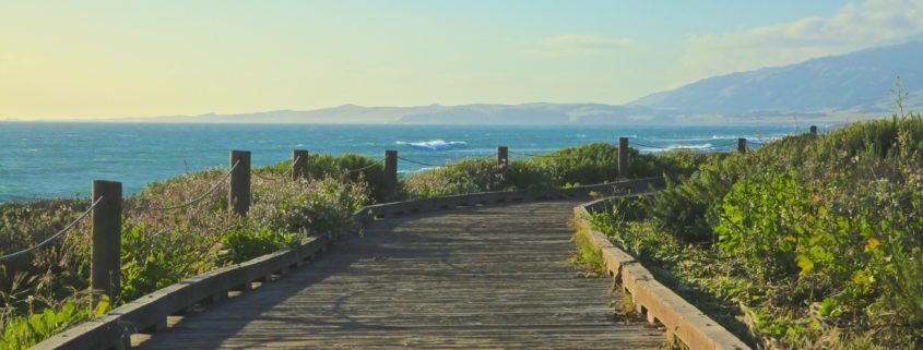 Moonstone Beach boardwalk in Cambria California