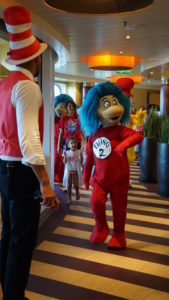 Dr. Seuss parade on the Carnival Cruise