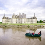 Family boating in Chambord France