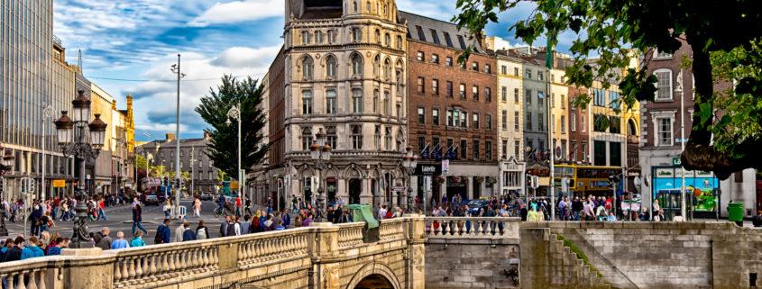 Dublin, Ireland across the Liffey