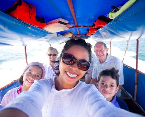 Multi-generational family cruise