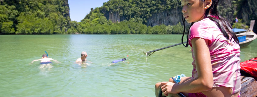 Family Snorkeling In Thailand