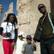 Family on tour in Egypt