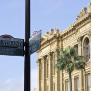 The Strand Historic District in Galveston, Texas