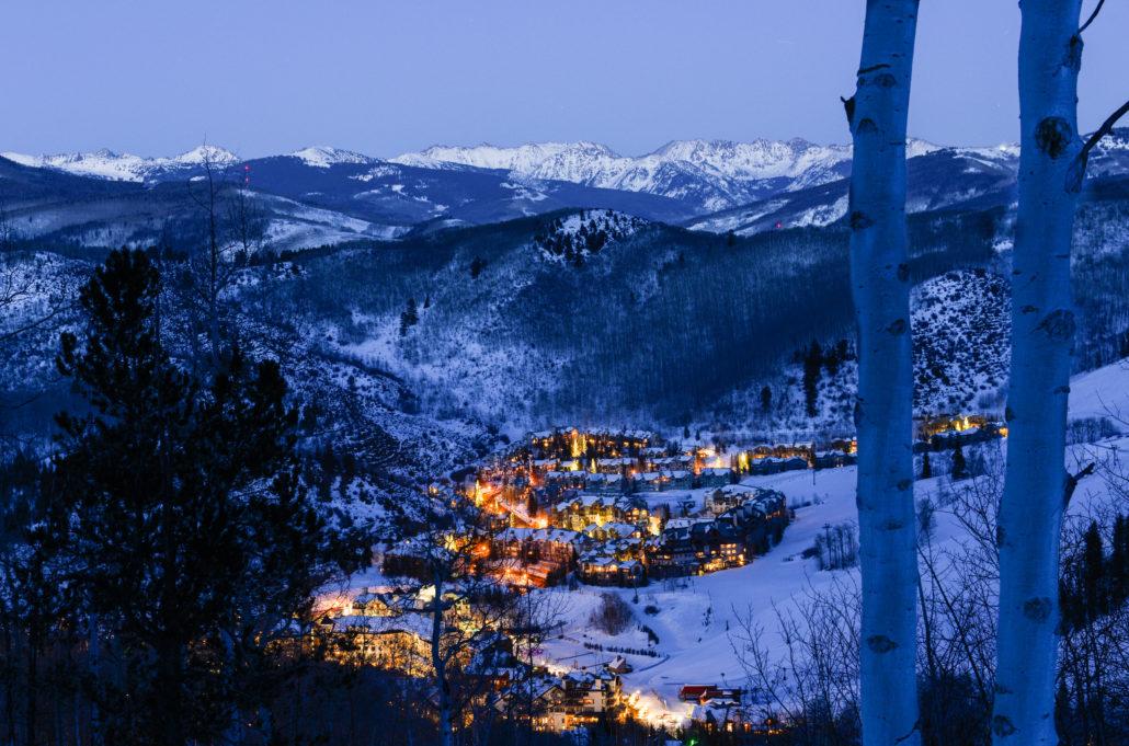 Village at twilight