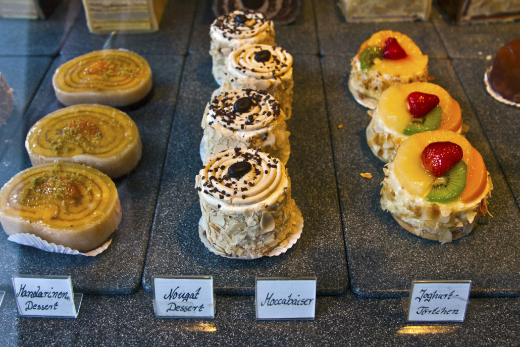 Konditorei pastries in Munich Germany