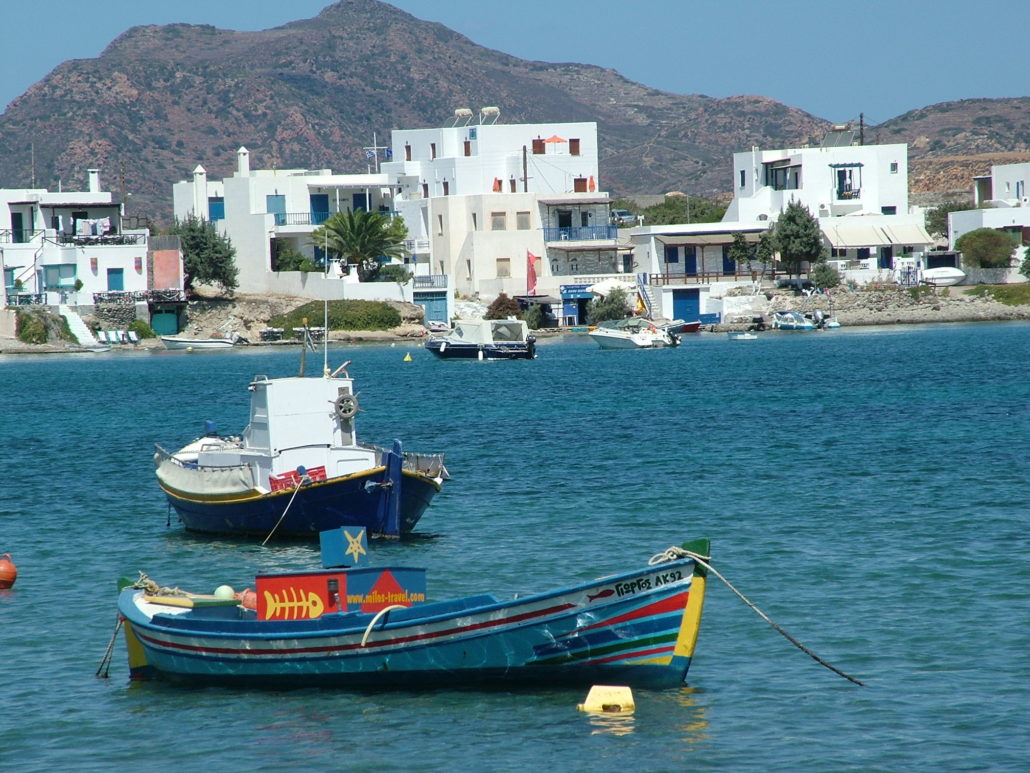 Milos fishing boats