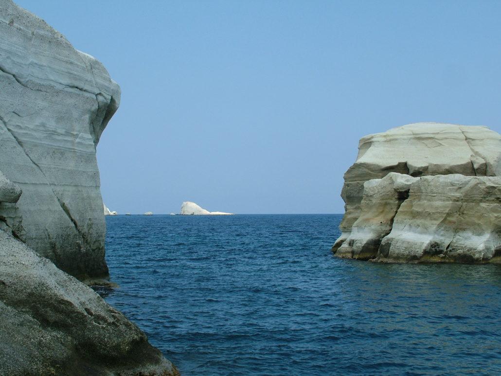 Milos rock formations