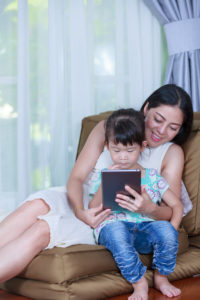 Mother Daughter Reading Ipad