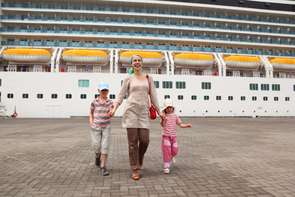 Mother and Kids Cruise Vacation