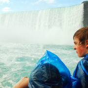 Kids at Niagara Falls