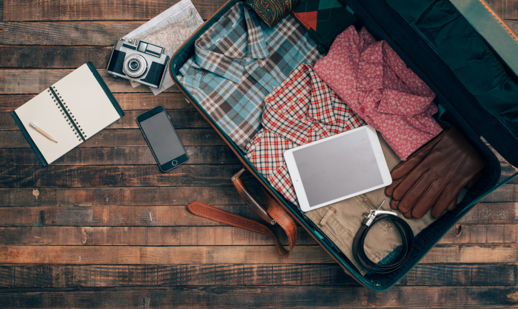 packing mens clothing for a trip