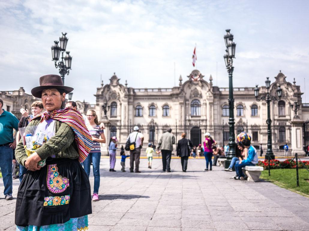 Peruvian Woman in Town