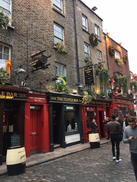 Temple Bar region in Dublin, Ireland