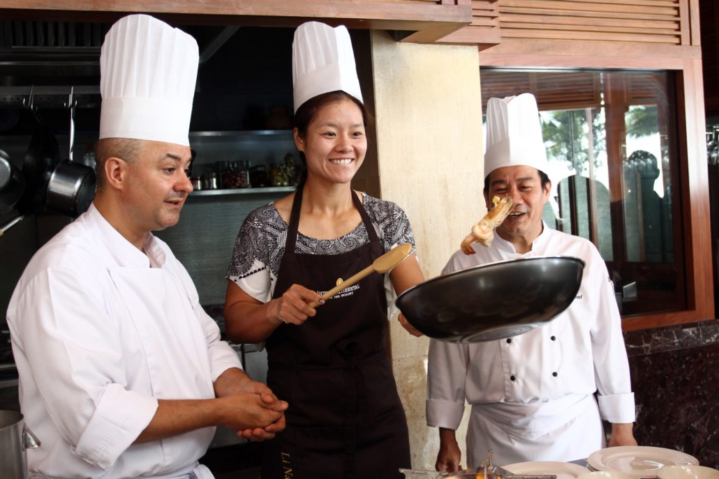 Mother taking Thai Cooking Class at Resort