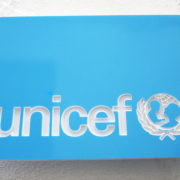 UNICEF Sign with Logo