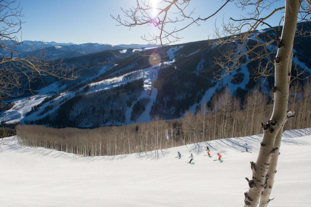 Vail Resorts Ski Lift with Family