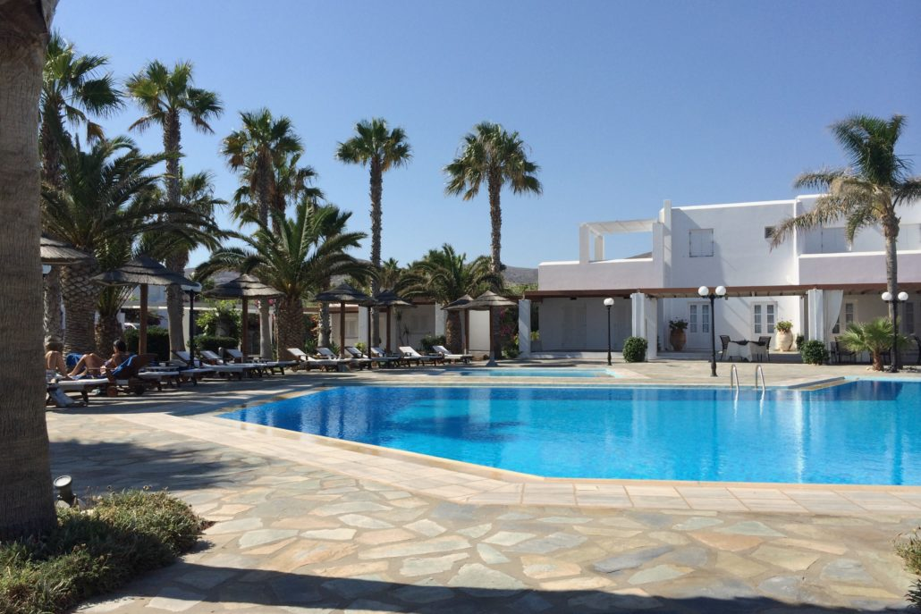astir of paros pool - hotel view in Greece