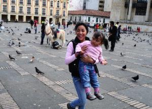 Kids playing in Bogota, Columbia
