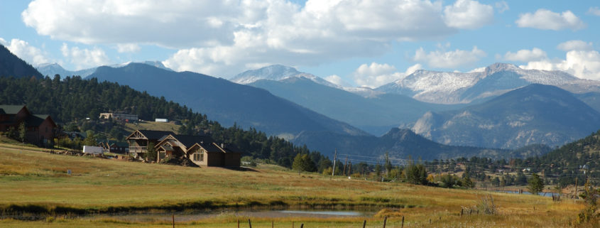 Rocky Mountains and home in Boulder Colorado
