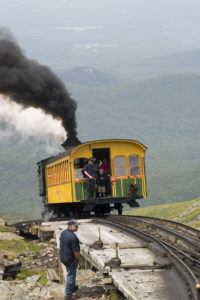 Cogman Railway Trail on tracks