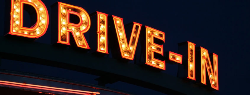 Drive-In Movie Theater Sign