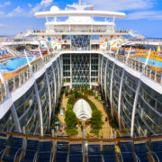Royal Caribbean, Allure of the Seas sailing from Barcelona The second largest passenger ship constructed behind sister ship Oasis of the Seas
