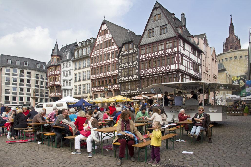 Frankfurt Germany outdoor dining