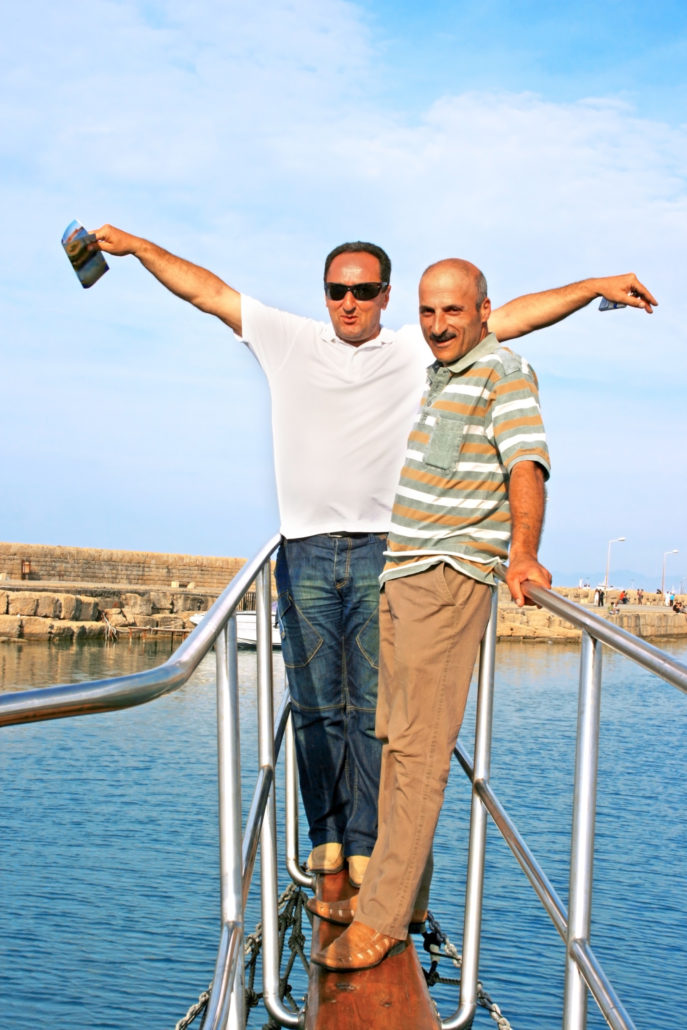 Men on a Cruise in Greece