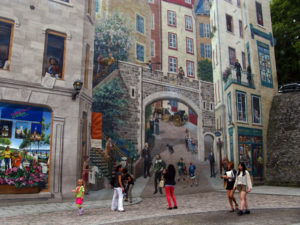 Province of Quebec, Quebec City, Old Town, vieux Port, art galleries, shops,