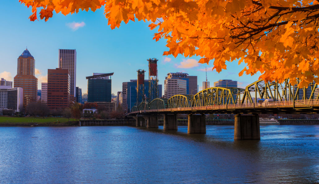 Portland Oregon Fall Waterfront
