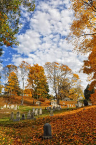 Salem, MA, Graveyard Fall Foliage