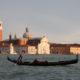 Italy, Venice, Church of san Giorgio from San Marco, goldola, vaporetto,