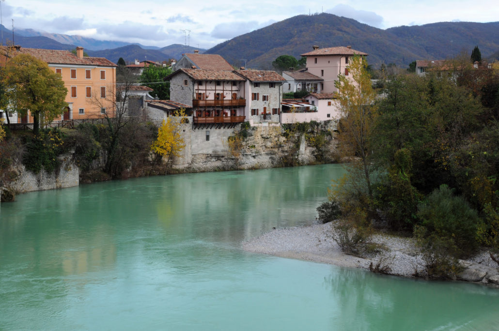 Cividale del Friuli and the Natisone River in northern Italy