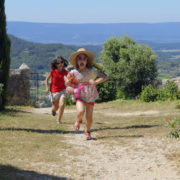 Girls running in France