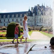Mother son walk in Loire, France