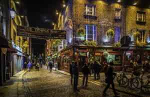 Temple Bar District, Dublin, Ireland, Christmas