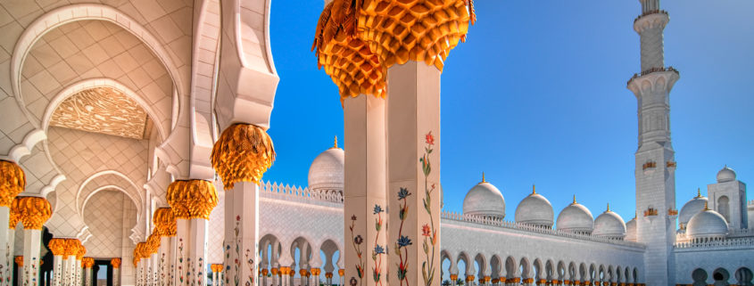sunset view at Mosque, Abu Dhabi, United Arab
