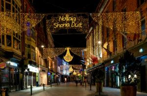Grafton Street Christmas decorations