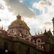 Puebla Cathedral in Puebla Mexico