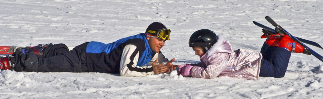 Mary Rogers, first ski day, Jan 14, 06, Gunstock, Jeffery Thibault instructor