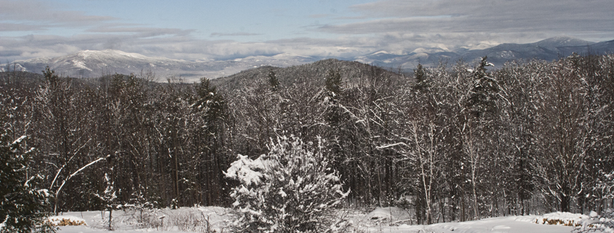 New Hampshire's White Mountains from Snow Village Inn, Eaton NH