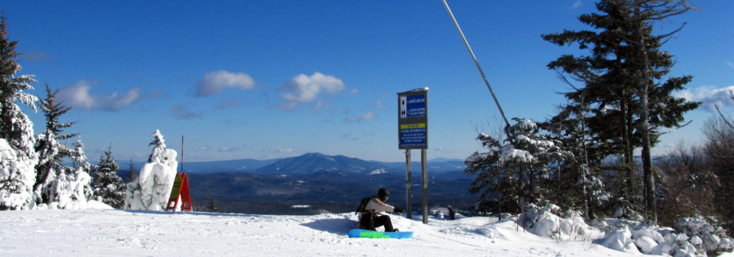 Sitting on the top, Okemo Mountain, Vermont