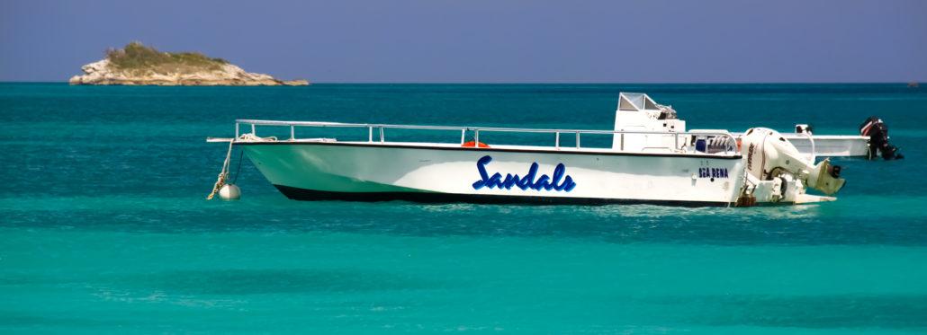 Sandals Resort Antigua boat