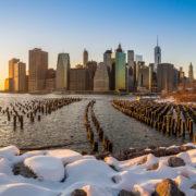 NYC Skyline in Winter