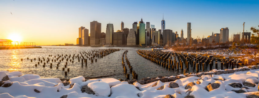 NYC Skyline in Winter