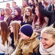 fans watching football